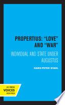 Propertius  Love and War Book