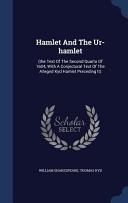 Hamlet and the Ur Hamlet