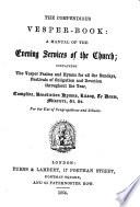 The Compendious Vesper book