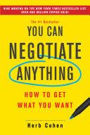 You Can Negotiate Anything [Pdf/ePub] eBook