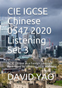 Cambridge IGCSE Chinese 0547 13 Paper 1 2020 Listening Set 3