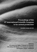 Pdf Proceedings of the Xth International Scientific Congress in Fur Animal Production