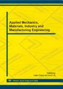 Applied Mechanics, Materials, Industry and Manufacturing Engineering Pdf/ePub eBook