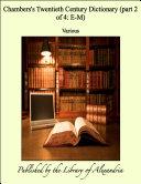 Chambers's Twentieth Century Dictionary (part 2 of 4: E-M) Pdf/ePub eBook