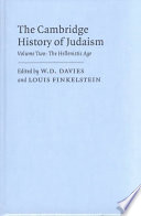 The Cambridge History Of Judaism Volume 2 The Hellenistic Age