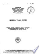 Mineral Trade Notes