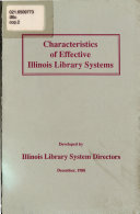 Characteristics Of Effective Illinois Library Systems