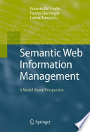 Semantic Web Information Management Book