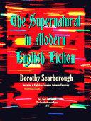 The Supernatural in Modern English Fiction [Pdf/ePub] eBook