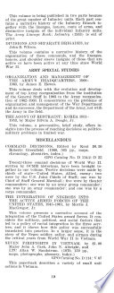 Publications of Office  Chief of Military History  Department of the Army
