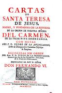 Cartas de Santa Teresa de Jesús