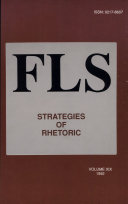 Strategies of Rhetoric Pdf/ePub eBook