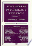 Advances in Psychology Research Book