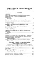 ILSA Journal of International Law
