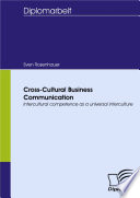 Cross Cultural Business Communication