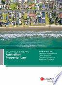 Sackville & Neave Australian Property Law