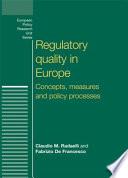 Regulatory Quality in Europe Book
