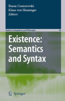Pdf Existence: Semantics and Syntax Telecharger
