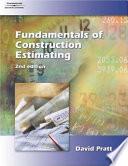 Fundamentals Of Construction Estimating Book