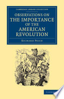 Observations on the Importance of the American Revolution Book
