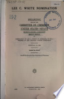 Lee C  White Nomination  Hearing   89 2  February 23  1966