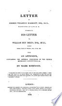 A Letter to G. W. Marriott ... in reply to his letter to W. H. Dikes ... dated ... 10th June, 1829. With an appendix, containing the general principles of the Church Methodist Constitution, etc