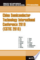 China Semiconductor Technology International Conference 2010  CSTIC 2010  Book