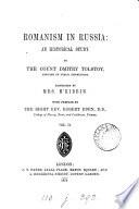 Romanism in Russia, tr. by mrs. M'Kibbin