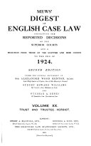 Mews  Digest of English Case Law