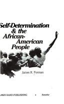 Self determination   the African American People