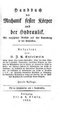 Handbuch der Mechanik fester Körper und der Hydraulik