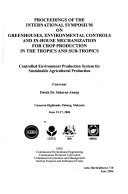 Controlled Environment Production System for Sustainable Agricultural Production Book