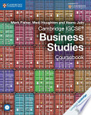 Books - Cambridge IGCSE Business Studies Coursebook With Cd-Rom | ISBN 9781107680258