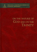 On the Nature of God and on the Most Holy Mystery of the Trinity