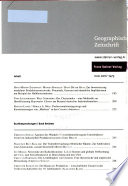 Geographische Zeitschrift