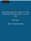 Books - Oxford Reading Tree: Stage 6�7 Playscripts (Pack of 6) | ISBN 9780199165841