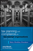 Tax Planning And Compliance For Tax Exempt Organizations Book PDF