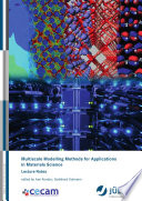 Multiscale Modelling Methods For Applications In Materials Science Book PDF