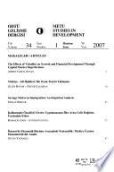 METU Studies in Development