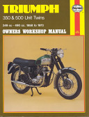 Triumph 350 and 500 Unit Twins Owners Workshop Manual  No  137