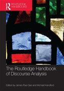 The Routledge Handbook of Discourse Analysis Pdf/ePub eBook