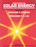 Applications of Solar Energy for Heating and Cooling of Buildings
