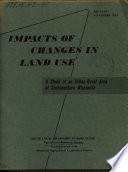 Impacts of Changes in Land Use Book