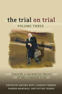 Pdf The Trial on Trial: Volume 3 Telecharger