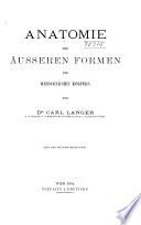 Anatomie Der Ausseren Formen Des Menschlichen Korpers Book