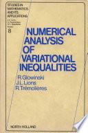Numerical Analysis Of Variational Inequalities Book PDF