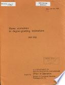 Home Economics in Degree granting Institutions