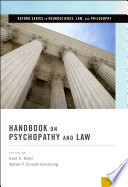 Handbook on Psychopathy and Law Book