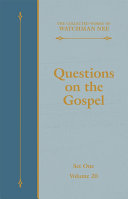 Questions on the Gospel [Pdf/ePub] eBook
