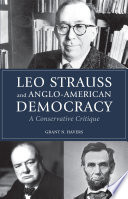 Leo Strauss and Anglo American Democracy Book PDF